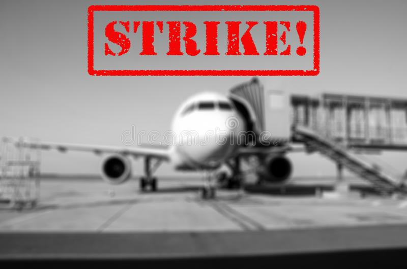 Streikflughafenhintergrund lizenzfreie stockbilder
