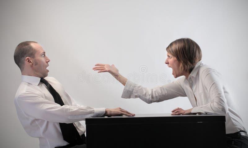 Streit lizenzfreie stockfotos