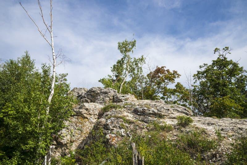 Strelnaya Mountain. Attraction of the Samara region. On a Sunny summer day royalty free stock photos