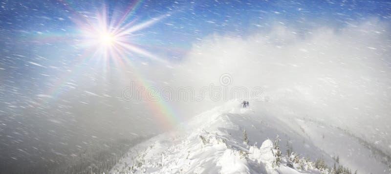 Streng de winterlandschap royalty-vrije stock fotografie