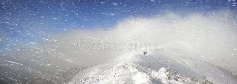 Streng de winterlandschap royalty-vrije stock foto's