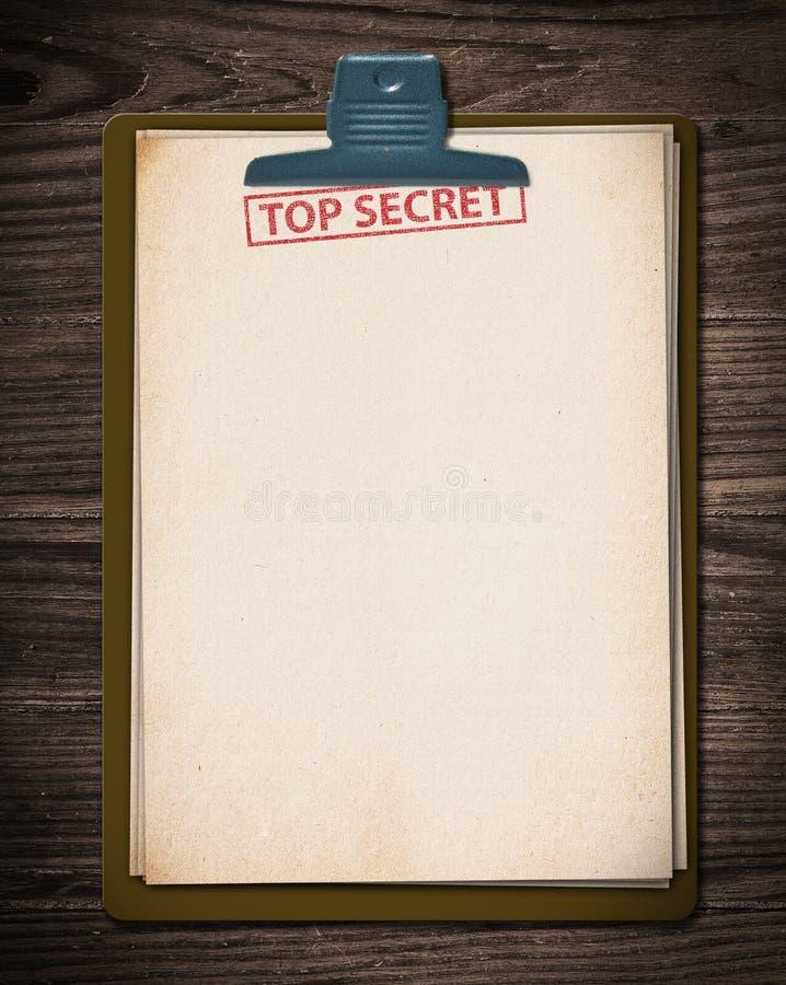 Streng geheim Dokument. lizenzfreie stockbilder