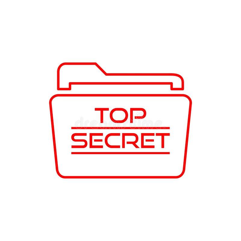 Streng geheim Ordnerikone oder -logo stock abbildung