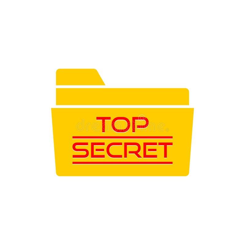Streng geheim Ordnerikone oder -logo lizenzfreie abbildung