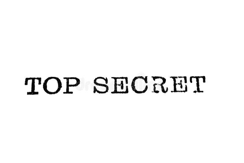 Streng geheim Schreibmaschinen-Art lizenzfreie stockbilder