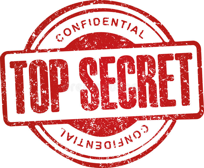 Streng geheim, vertraulich Schmutzart-Rotstempel lizenzfreie abbildung
