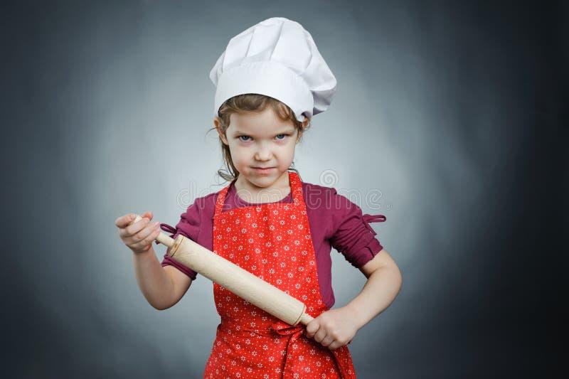 Strenge chef-kok royalty-vrije stock afbeeldingen