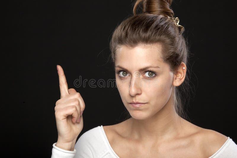 Strenge Frau lizenzfreies stockbild