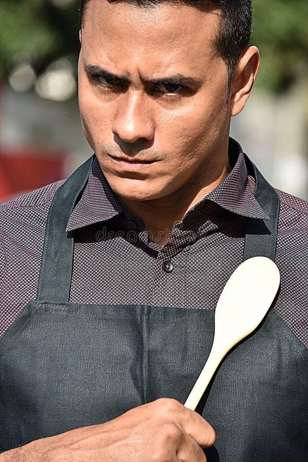 Strenger erwachsener männlicher Chef Or Cook stockbilder