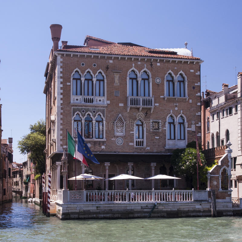 Strenger Palast in Venedig stockbilder