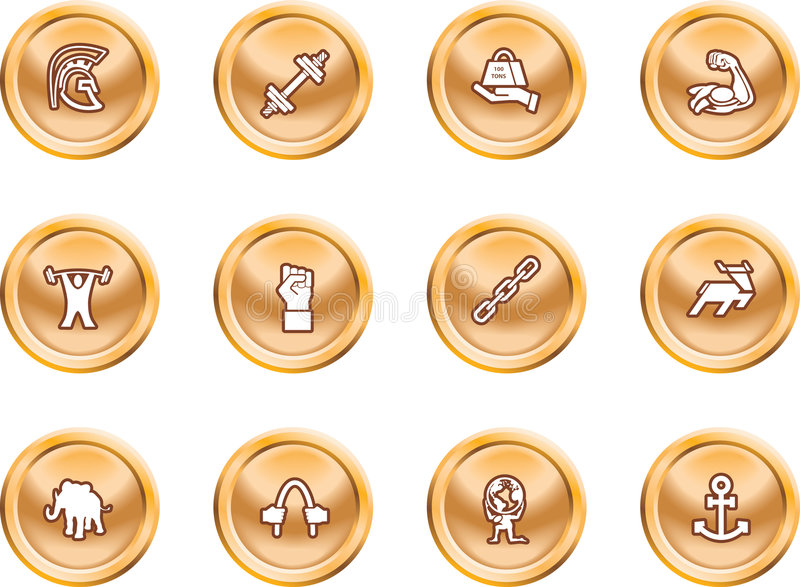 Download Strength Concept Icon Set Stock Image - Image: 2862461