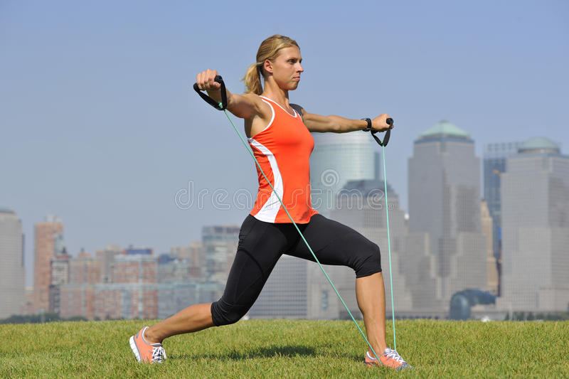 Download Strength Exercise In Urban Park Royalty Free Stock Photos - Image: 15714318