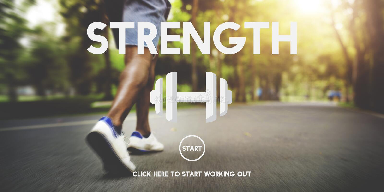 Strength Health Life Mental Nutrition Vitality Concept royalty free stock photo