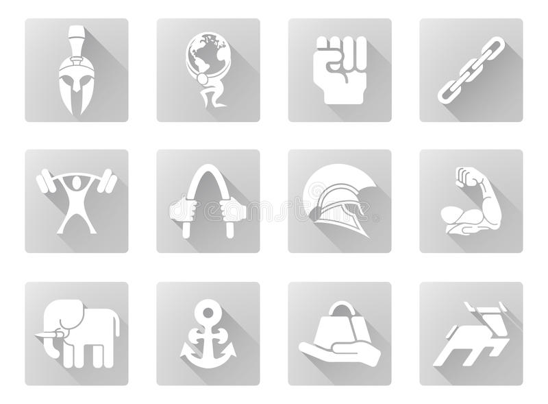 Strength icons vector illustration