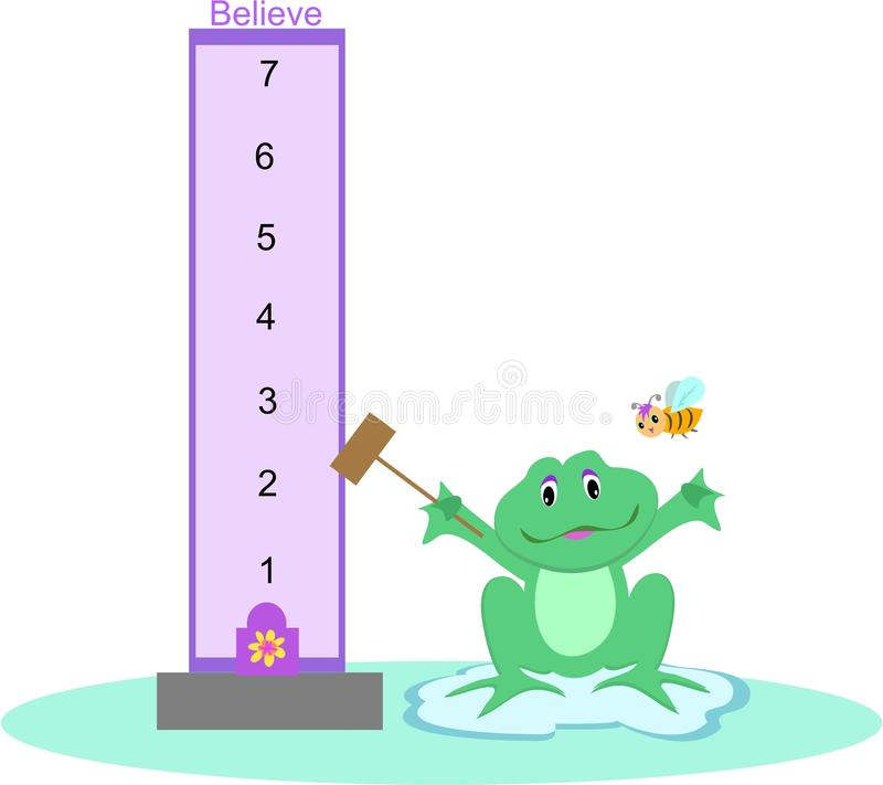 Download Strength Testing Frog stock vector. Image of amphibian - 11028393