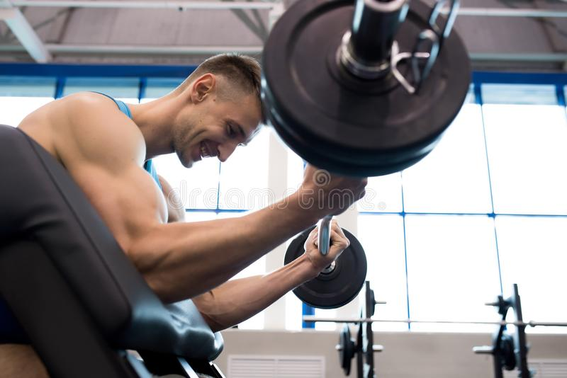 Strength Training in Gym royalty free stock photos