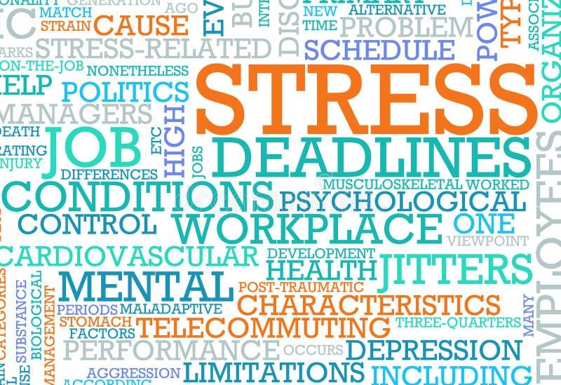 stres ilustracja wektor