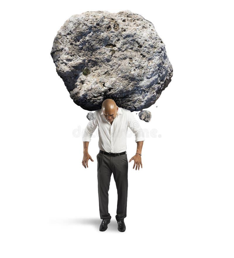 Stres biznesmen zdjęcie stock