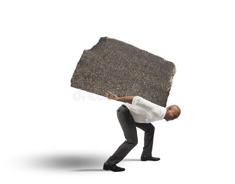 Stres biznesmen obrazy stock