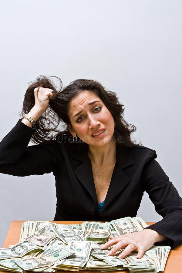 stres finansowego obraz stock
