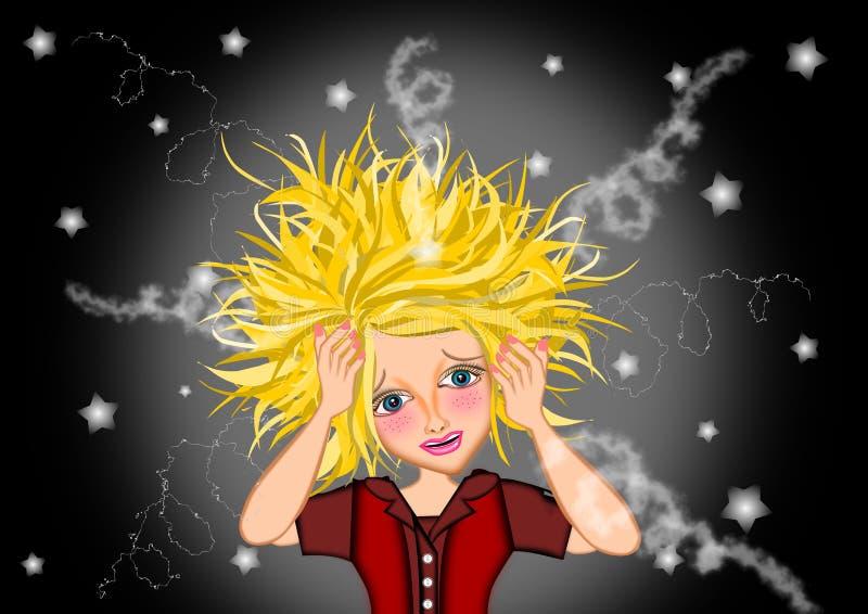 stres kobieta ilustracja wektor