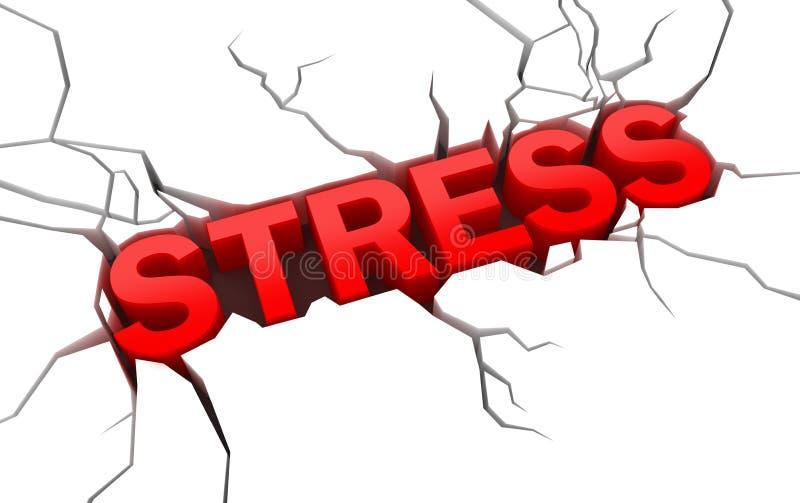 stres krakingowa powierzchnia ilustracji