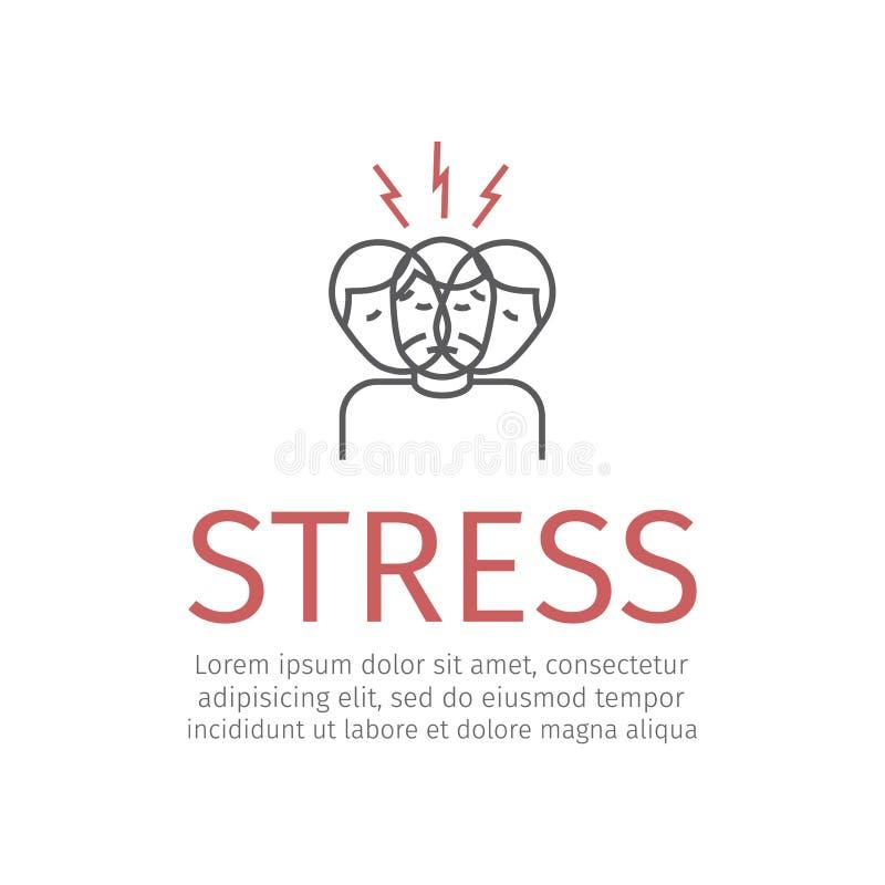 Stres kreskowa ikona royalty ilustracja