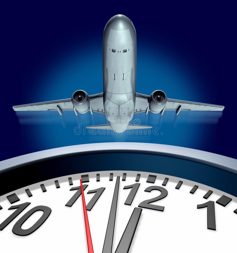 stres lotnicza podróż royalty ilustracja
