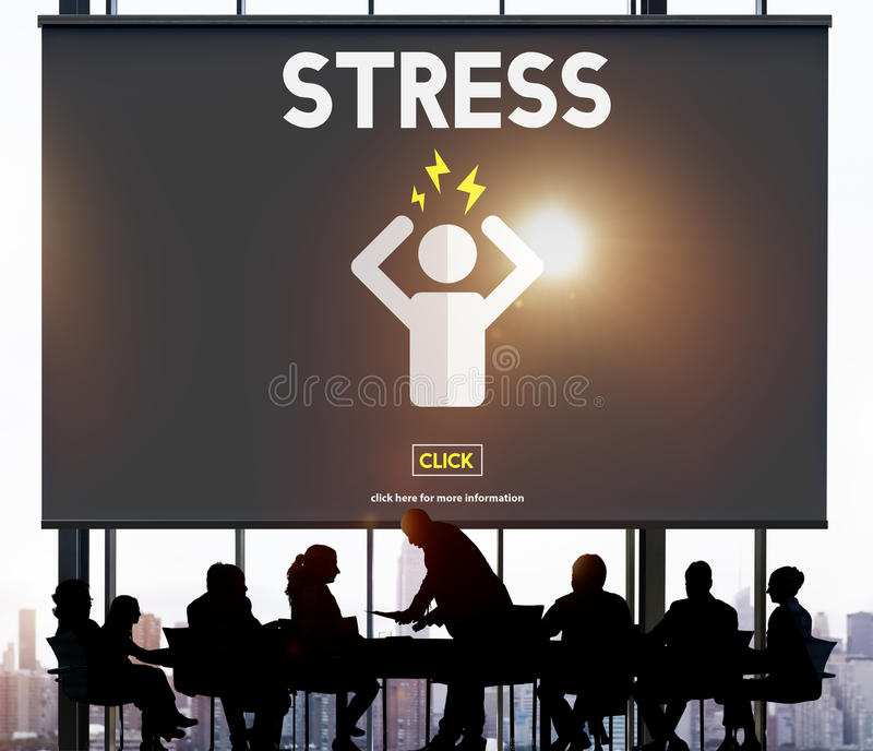Stres migreny migreny paniki napięcia Nieszczęśliwy pojęcie ilustracji