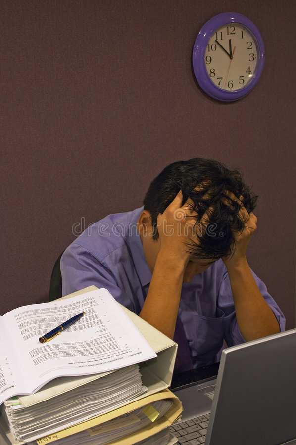 stres pracy obrazy stock