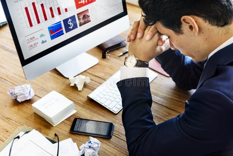 Stres pracy migreny nacierania pojęcie zdjęcie royalty free