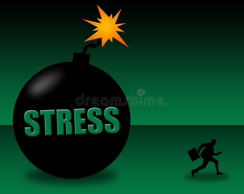 Stres sytuacja ilustracji