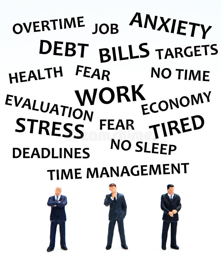 Stress royalty free illustration