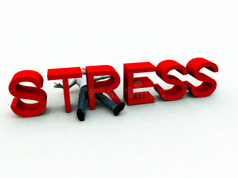 Stress 3 stock illustration
