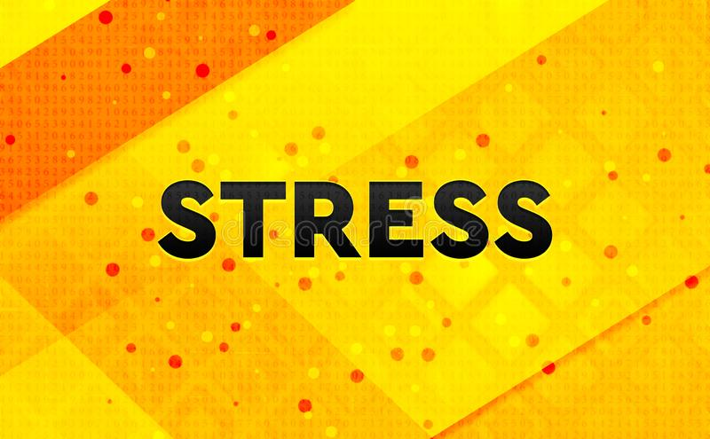 Stress Abstract Digital Banner Yellow Background Stock Image Image Of Background Illustration 154749195