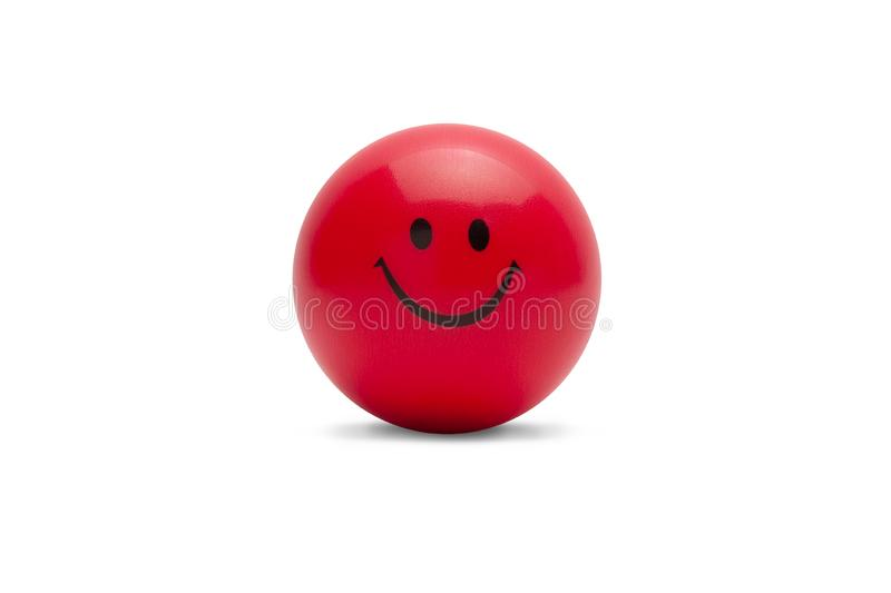 Stress ball isolated on white background with clipping path. royalty free stock image