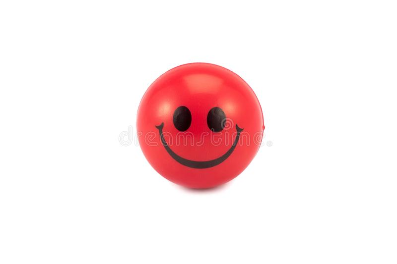 Stress ball on white background stock photography