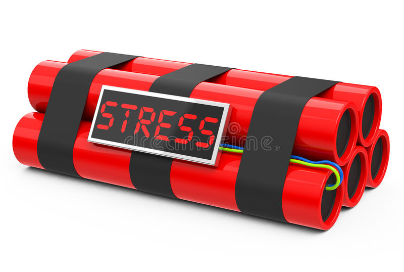 The stress bomb. 3d generated picture of a stress bomb stock illustration