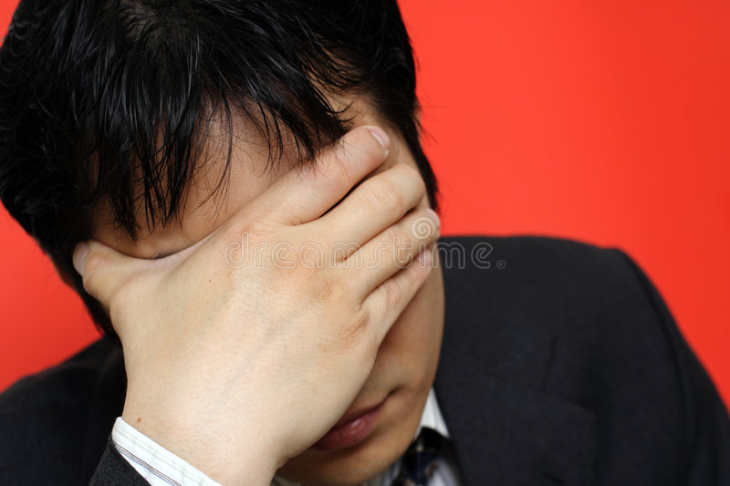 Stress businessman stock photos