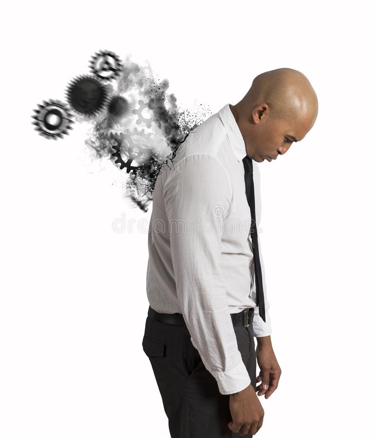 Stress of a businessman royalty free stock image