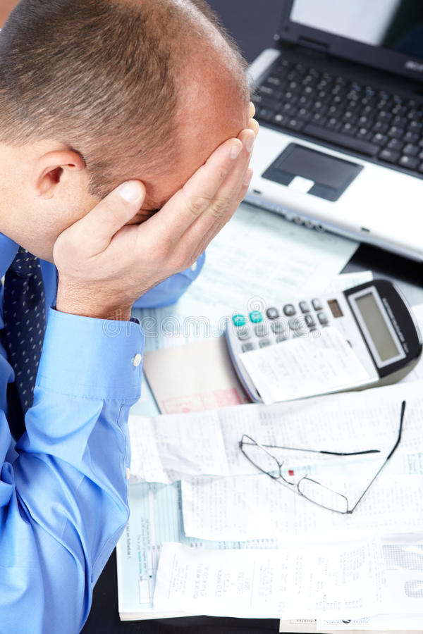 Download Stress. Businessman In The Office Royalty Free Stock Images - Image: 26810959