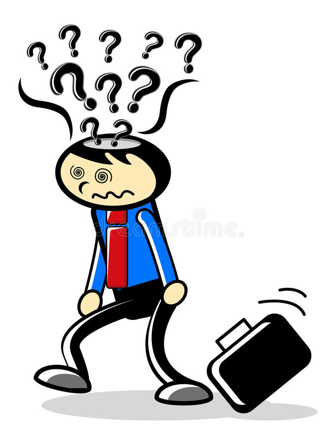 Download Stress cartoon stock vector. Image of depression, drop - 18979608