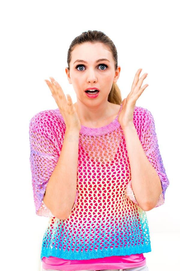 Stress caucasian woman stock images