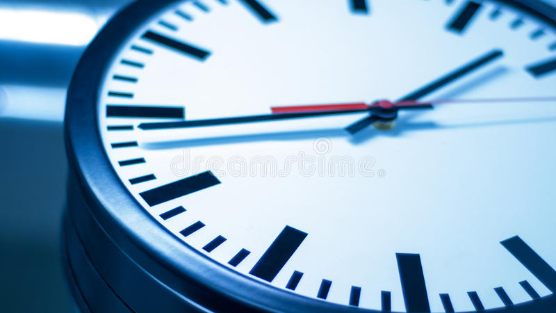 Stress caused by the clock royalty free stock photos