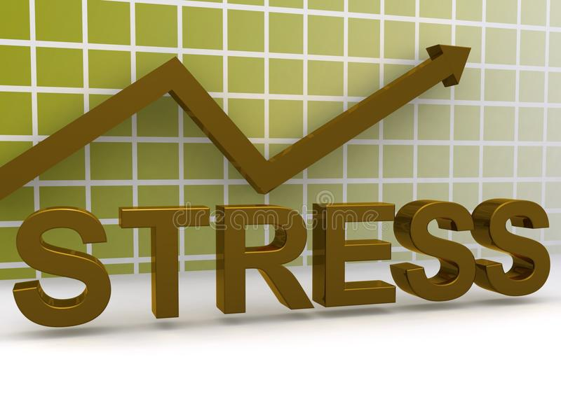 Stress chart illustration. Illustration of stress chart and arrow stock illustration