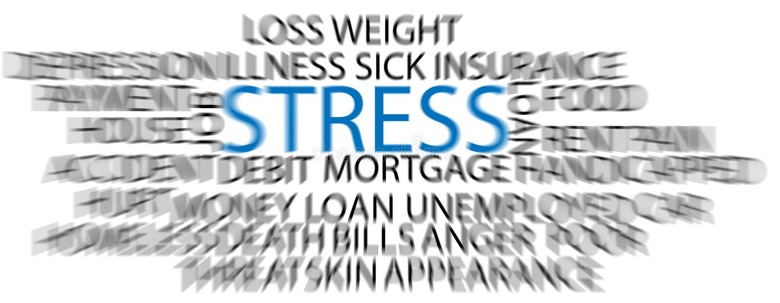 Stress Collage Vector. A collage of stress concept stock photo
