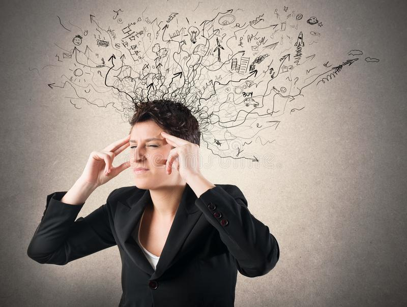 Stress and confusion royalty free stock photos