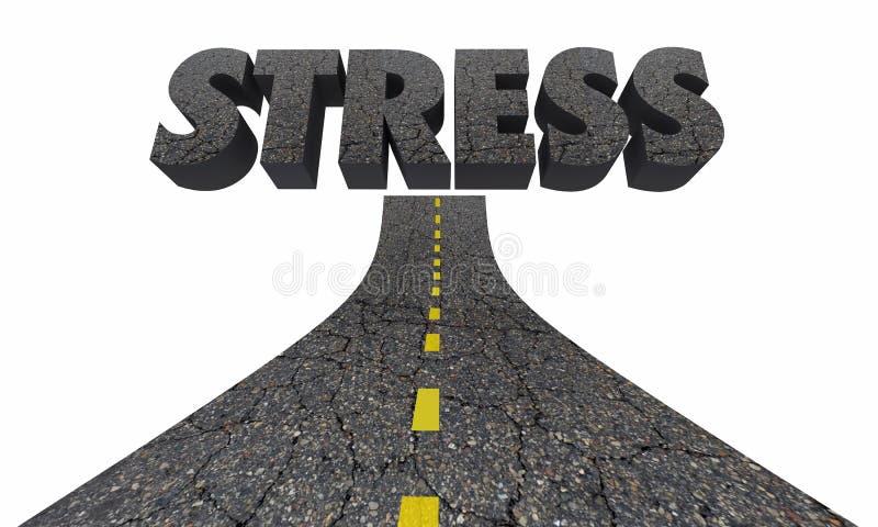 Stress Driving Word Road Rage Anger Emotion vector illustration