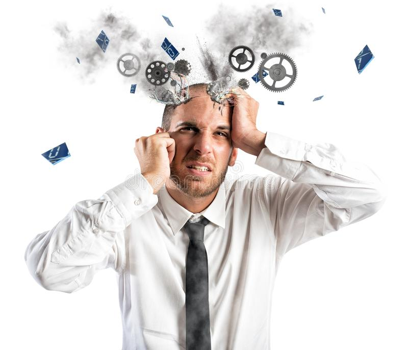 Stress explosion royalty free stock photos
