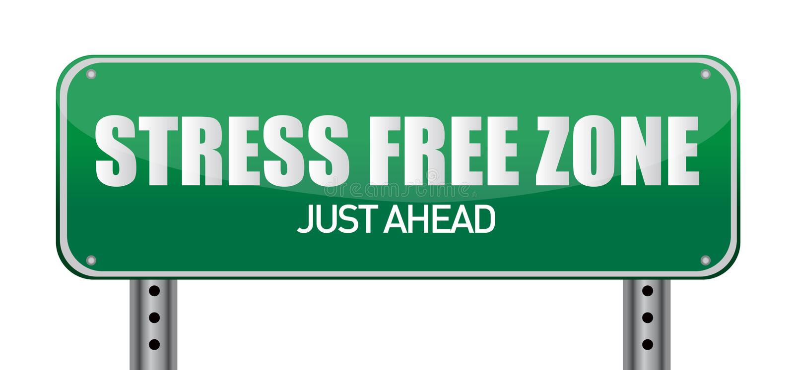 Stress free Zone just ahead illustration sign royalty free illustration